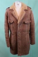 Vintage Lamm Fell Mantel Leder ca 54/L 70er shearling Einzelstück vom Kürschner