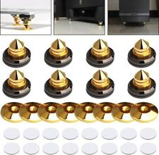 More details for speaker spikes golden plated cd audio amplifier isolation cone feet 8 pack uk