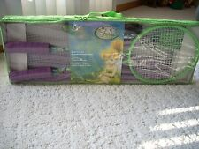 Disney  Store NEW Fairies Tinkerbell Badminton Set Portable with carrying Bag,