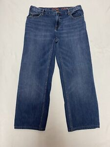 Boys Lands' End Blue Jeans, Size 16 H Husky Relaxed