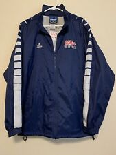Vtg Adidas Team NCAA Ole Miss Rebels Volleyball Windbreaker Track Jacket Sz M