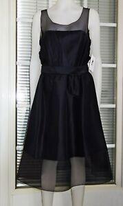 KARL LAGERFELD für H&M Silk Seide Chiffon Cocktail Kleid Neu Größe 40