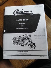 CUSHMAN PARTS BOOK FOR 762 AND 765 THROUGH 765-69 EAGLE 1950-58