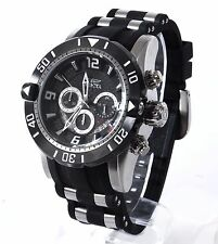 Invicta Pro Diver 23696 Black Rubber Stainless Steel Chronograph 50mm Mens Watch
