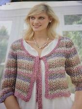 Knitting Pattern- Lady's Pretty  Cardigan  In Rowan Purelife Revive D.K. 32-52in