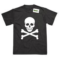 Skull & Crossbones Pirate Inspired Printed T-Shirt