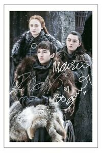 MAISIE WILLIAMS SOPHIE TURNER I H WRIGHT GAME OF THRONES SIGNED PHOTO PRINT
