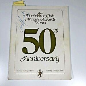 Touchdown Club 1985 Program Signed Dan Marino (cover) Don Shula Larry King etc