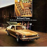 1976 FORD PINTO Brochure / Catalog: RUNABOUT,Stallion,WAGON,SEDAN......New