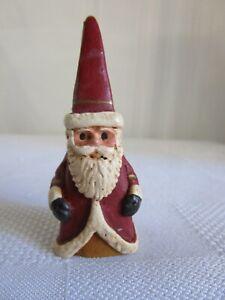 "Vintage Carved Wood Miniature  Santa Claus Wood 2 1/2"" Figurine #2288 SHIPS FREE"