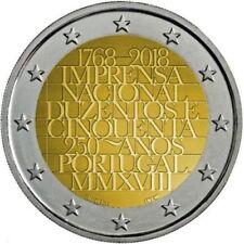 2 Euro Portugal 2018 * 250th Anniversary - National Press * Unc