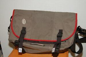 Timbuk2 19in Grey w/ Red Trim Laptop Messenger Bag