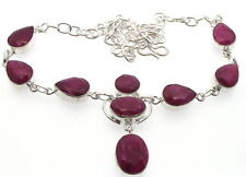 Gemstone Statement Ruby Costume Necklaces & Pendants