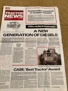 Case David Brown Tractor News December 1984 Brochure Leaflet Newspaper 94 Series
