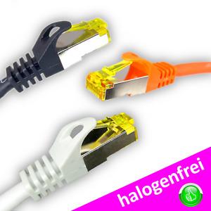 CAT 7 S/FTP 0,25m Patchkabel Netzwerkkabel Ethernetkabel LAN schwarz weiß