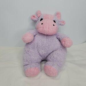 "Ty MooCowBaby Moo Cow Baby Purple Pink Plush Rattle Stuffed Animal 2000 12"""