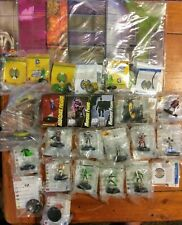 DC Heroclix Lot- Marquee, LE Figures, Resource, Maps, Objects- 37 Pieces