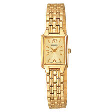 *BRAND NEW* Seiko Women's Champagne Dial Gold Tone Stainless Steel  Watch SXGL62
