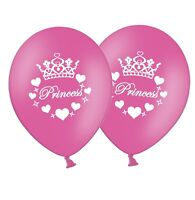 "Princess - 12"" Printed Hot Pink Latex Balloons pack of 8 by Party Decor"
