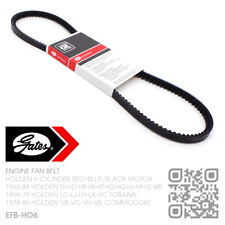 GATES V-BELT FAN BELT 161-173-186-202 RED MOTOR [HOLDEN LC-LJ-LH-LX-UC TORANA]