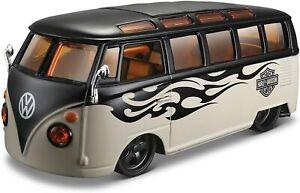 Maisto Harley Davidson Volkswagen Van Samba 1/25 Die cast 11837