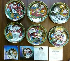 Lot Of 6 Bing Grondahl 1989-1994 Santa Claus Collection Plates With Hangers