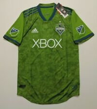 NWT Adidas Seattle Sounders FC 2017 Primary Authentic Jersey Rave Green Sz Small
