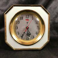 Vintage POLARIS Wind Up Alarm Clock Powder Blue Glow in the Dark