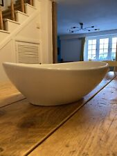Oval Counter Top Sink Basin Ceramic White