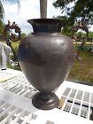 Antique Bronze Urn Vase w/ Dragon Handles