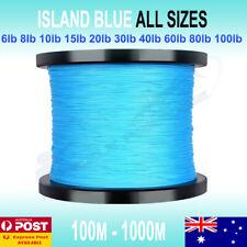 Blue PE Braid Fishing Line Spectra 6 10lb 15 20 30 50 80lb 150m 300m 500m 1000m