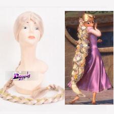 Enchanted Rapunzel 120cm Anime Halloween Cosplay Party Perücke Lang Tresse +Kapp