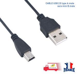 CORDON USB 2.0 Type A male vers mini B male câble de chargeur