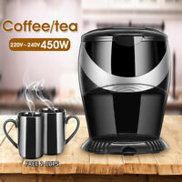 Portable American Household Drip Type Automatic Coffee/ Tea Machine Maker 450W