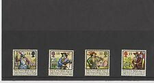Set 4 GB Great Britain Stamps The Civil War 1992 Mint in folder never hinged
