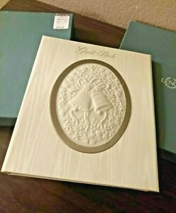 LENOX Wedding Ivory Guest Book in box retails $75.00 ( open box display item)