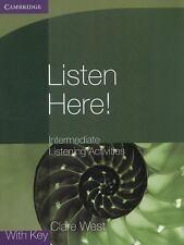 LISTEN HERE! INTERMEDIATE LISTENING ACTIVITIES WITH KEY - NEW PAPERBACK BOOK