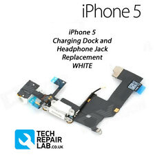 NEW Replacement iPhone 5 Charging/Lightning Dock/Port + Headphone Jack - WHITE