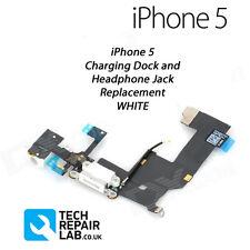 Nouveau iphone 5 5G remplacement dock de chargement/port assembly + prise jack pour casque-blanc