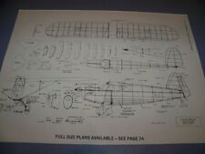 VINTAGE..REARWIN SPEEDSTER..3-VIEWS/STRUCTURE/CROSS SECTIONS...RARE! (898F)