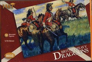 HAT 1:72 NAPOLEONIC BRITISH HEAVY DRAGOONS KIT #8033