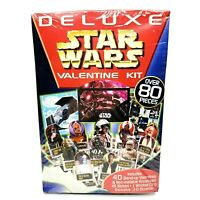 NOS Vintage Star Wars Deluxe Valentine Kit 1997 Sealed w/ Over 80 Pc Valentines