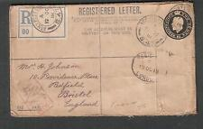England WWI registered Army Post Office S47 crown censor 6106 cover to Bristol