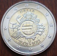 2 euro MALTA 2012 TYE - 10 anni euro TEN YEARS EURO 10 ans Malte UNC FDC DA ROLL