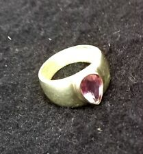 Vintage 925 Sterling Ring With Amethyst