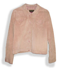 Brandon Thomas Hip Buff Suede Leather Jean-Style Button Front Lined Jacket-XL*