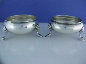 George III Silver pr Salt Cellars Dishes JOHN MUNS London c1764