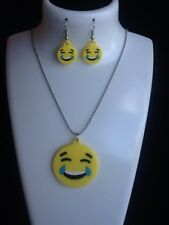 Girls brand new Emoji (Smiley Face) Necklace & Earrings Set.