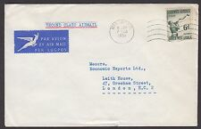 """South West Africa 1957 cover endorsed """"Second Class Airmail"""" airmail to England"""