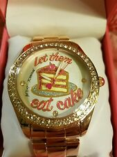 """NWT BETSEY JOHNSON """"Let them eat cake."""" Watch Bj00249-32 Free USA Shipping"""